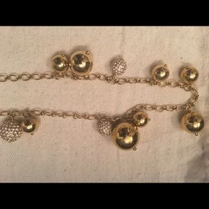 Jcrew gold and crystal necklace